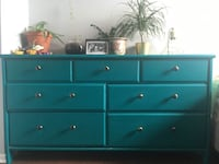 Teal Dresser - Refinished, Primed & Painted Ottawa, K2C 0G8