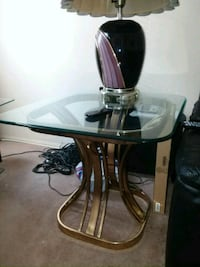 Glass top living rm table Staten Island, 10309