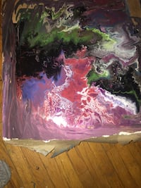 black and pink abstract painting Milton, L9T 2B3