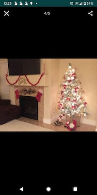 Christmas tree with led lights, and decorations. All for $250, I paid  Las Vegas, 89148
