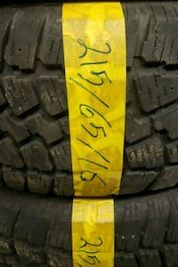 2pc winter tire with installation 150$ Toronto, M3J 2B9