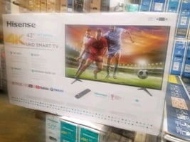 "TV 43"" NEW 4K SMART HDR HISENSE"