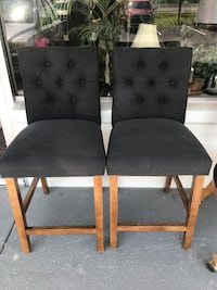 2 grey tufted bar stools Clearwater, 33761