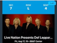 DEF LEPPARD AND JOURNEY CONCERT Coral Springs, 33065