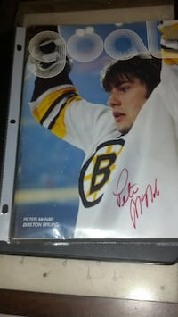 Signed Photo's and One Goal Magazine Cover of Bruins, Peter McNab, Terry Oreilly, Gerry Cheevers and Rick Middleton for a Local Cash Sale Only WITH a Contact #. No Contact # WILL be Passed Over for One's WITH a Contact # . Not into Time Wasting Thank You Wilmington