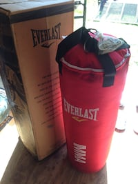 red and black Everlast heavy bag Manchester, 08759