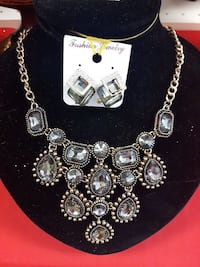 silver-colored beaded necklace
