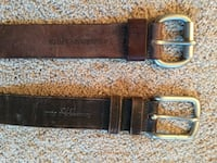 Black and brown leather belt.