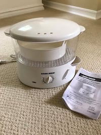 Black and Decker rice cooker and vegetable steamer Kitchener, N2M 1B4