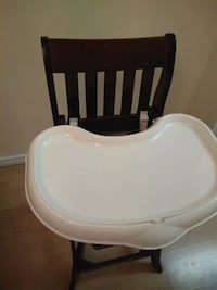 baby's white and black high chair Surrey