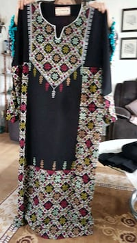 black and white floral long-sleeved dress Edmonton, T5Z 3L9