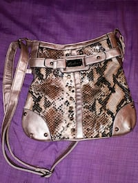 brown and black snakeskin leather shoulder bag Calgary, T2M 1H1