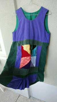 Cute purple and green sleeveless tank dress Kitchener, N2G 4X6