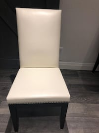 Genuine Soft White Leather Decorium Dining Chairs $600 for 4 !