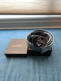 Gucci Black Belt GG Burlington, L7M 4Y8