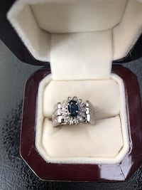 Blue Sapphire and diamond 14kt gold engagement ring Calgary, T2M 0T4