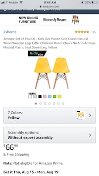Kids chairs Arlington, 22206