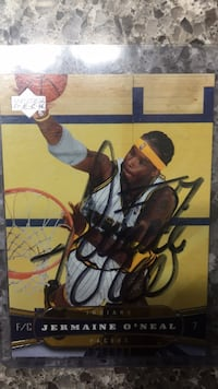 Jermaine O'Neal Signed Card Carmel, 46032