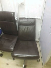 black leather padded rolling armchair Greater London, SE19 3TE