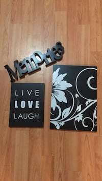 black and white wooden wall decor Niagara Falls, L2E 2C5