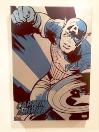 "Captain America framed canvas art 13"" x 19"" Savage, 20763"