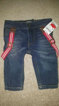 Carter's 3months skinnys with suspenders