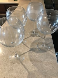 two clear glass candle holders Acushnet, 02743