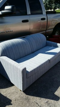 white and blue fabric sofa Toronto, M1J 1L3