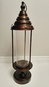 Home Decor: Hurricane Glass Lantern Candle Holder  Hamilton