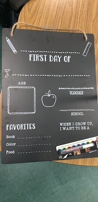 First day of school sign! Arlington, 22206