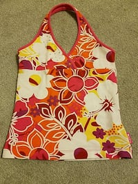 white and red floral tank top North Potomac, 20878