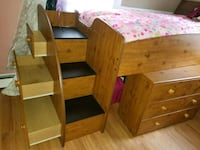 brown wooden bed with bookcase and dresser  Tarrytown, 10591