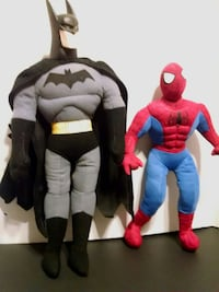 Batman and spider man plush  East Northport