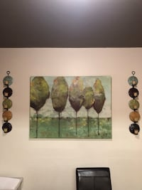 Artwork from Pier 1: Brown and green wall decor