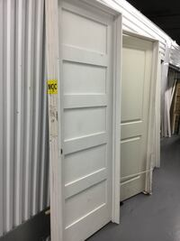 "32/80"" 5 PANEL SOLID PREHUNG DOOR"