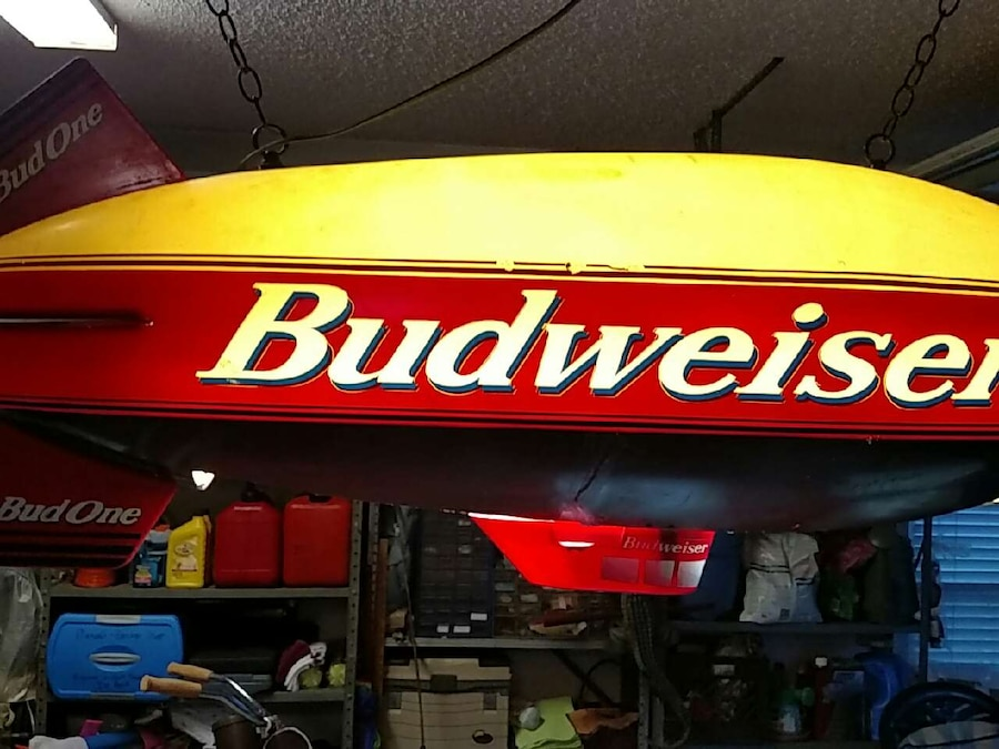 Budweiser Blimp Pool Table Light