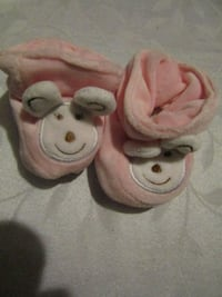 two white and pink bear slippers London
