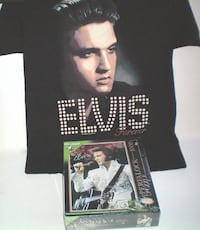 Elvis Forever Tshirt Size Large and Wrebbit Elvis Aloha From Hawaii Jigsaw Puzzle London