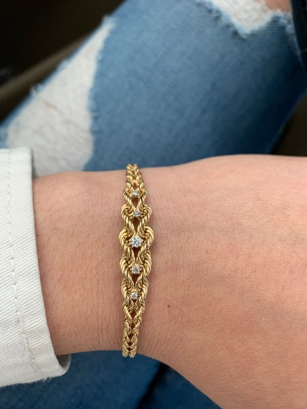 14k Gold 5 Diamond Bracelet 0