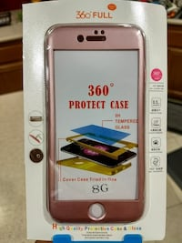 Pink Rose Iphone 8 360° protect case