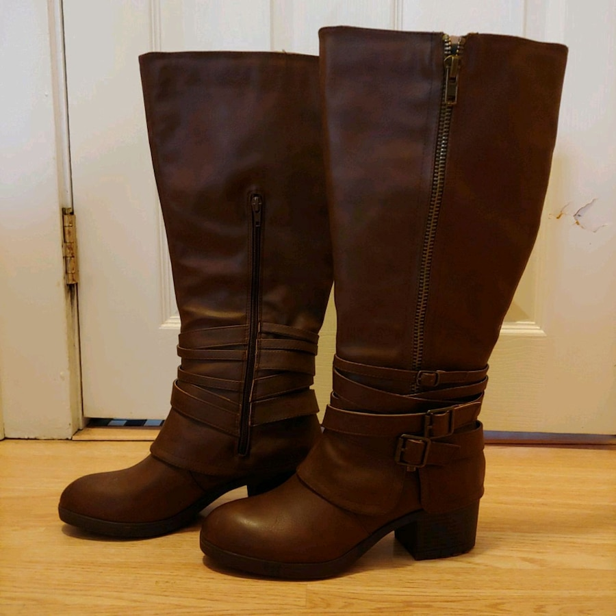 Photo Women's brown leather Madden Girl boots