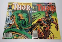 Vintage 80s The Mighty Thor Comic Books