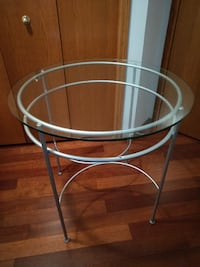 "Round Glass Table 30"" Diameter  CALGARY"