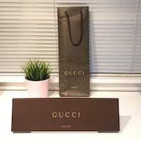Gucci Men Necktie Gift Box Bag Included