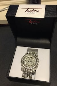Silver and diamond bling watch Purcellville, 20132