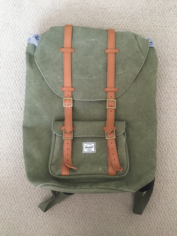 Used Herschel Supply the little America backpack (GREEN) for sale in  Oakland - letgo 025d772a789b4