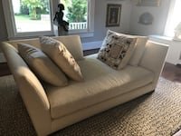 white leather 2-seat sofa Rockville, 20850