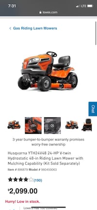 Lawnmower trailer and weedeater