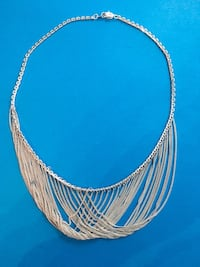 Solid .925 Sterling Silver Vintage Formal Gown Necklace (Custom Made)