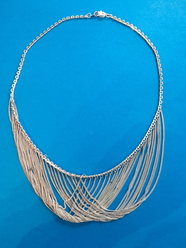 Solid .925 Sterling Silver Vintage Formal Gown Necklace (Custom Made) e7b01147-d436-4298-8860-67b48bfc1554